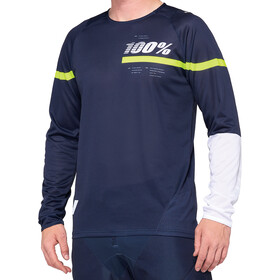 100% R-Core DH Maillot de cyclisme Homme, dark blue/yellow